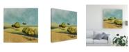 "Trademark Global Pablo Esteban Rounded Trees on Hills 1 Canvas Art - 15.5"" x 21"""