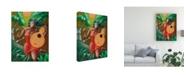 "Trademark Global Oscar Ortiz Red Dress and Guitar Canvas Art - 27"" x 33.5"""
