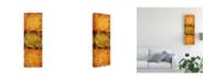"Trademark Global Pablo Esteban Stencils Over Red Tones 5 Canvas Art - 27"" x 33.5"""