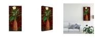 "Trademark Global Pablo Esteban Wicker Vase Over Red 1 Canvas Art - 15.5"" x 21"""