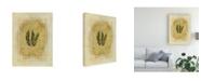 "Trademark Global Pablo Esteban Fern Leaf Framed 7 Canvas Art - 36.5"" x 48"""