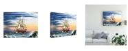 "Trademark Global Patrick Sullivan Any Port Canvas Art - 19.5"" x 26"""
