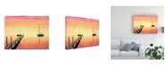 "Trademark Global Patrick Sullivan Pier & Boat Canvas Art - 19.5"" x 26"""