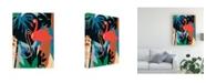 "Trademark Global June Erica Vess Funky Flamingo II Canvas Art - 27"" x 33.5"""