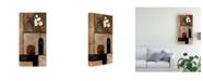 "Trademark Global Judi Bagnato Earthy Orchid Panel I Canvas Art - 15.5"" x 21"""