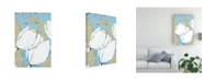 "Trademark Global Jade Reynolds White Tulip Triptych II Canvas Art - 15.5"" x 21"""