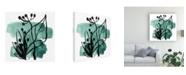 """Trademark Global June Erica Vess Tropical Sumi E IX Canvas Art - 15.5"""" x 21"""""""