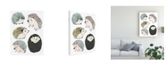 "Trademark Global June Erica Vess Prickle Pals II Canvas Art - 15.5"" x 21"""