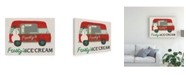 "Trademark Global June Erica Vess Food Truck Holidays IV Canvas Art - 15.5"" x 21"""