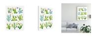 "Trademark Global Jane Maday Happy Cacti Canvas Art - 15.5"" x 21"""