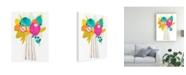 "Trademark Global June Erica Vess Floral Fiesta Abstract Canvas Art - 15.5"" x 21"""