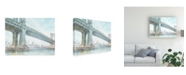 "Trademark Global Ethan Harper Iconic Watercolor Bridge IV Canvas Art - 27"" x 33.5"""