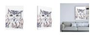 "Trademark Global June Erica Vess Funky Owl Portrait III Canvas Art - 15.5"" x 21"""
