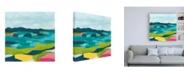 "Trademark Global June Erica Vess Kaleidoscope Coast II Canvas Art - 15.5"" x 21"""