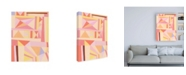 "Trademark Global Nikki Galapon Blush Structure I Canvas Art - 27"" x 33.5"""