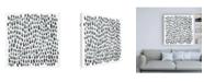 "Trademark Global Emma Scarvey Blue Grey Tessera I Canvas Art - 19.5"" x 26"""
