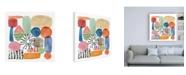 "Trademark Global Melissa Wang Color Code IV Canvas Art - 15.5"" x 21"""