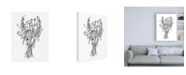 "Trademark Global Emma Scarvey Black and White Bouquet III Canvas Art - 15.5"" x 21"""