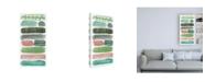 """Trademark Global Melissa Wang Phases of Joy II Canvas Art - 27"""" x 33.5"""""""