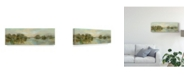 "Trademark Global Silvia Vassileva Dreamy Lake Green Crop Canvas Art - 20"" x 25"""