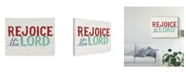 """Trademark Global Michael Mullan Holiday on Wheels Rejoice in the Lord V2 Canvas Art - 20"""" x 25"""""""