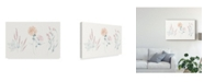 "Trademark Global Wild Apple Portfolio Flowers on White VIII Contemporary Canvas Art - 37"" x 49"""