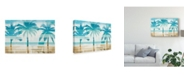 "Trademark Global Michael Mullan Beachscape Palms with Chair Canvas Art - 20"" x 25"""