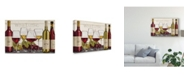 """Trademark Global Janelle Penner Wine Tasting Red and White Canvas Art - 37"""" x 49"""""""