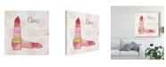 """Trademark Global Jess Aiken Fashion Blooms III Pink Canvas Art - 15"""" x 20"""""""