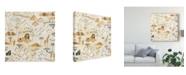 "Trademark Global Laura Marshall World Traveler Pattern VIII Canvas Art - 27"" x 33"""