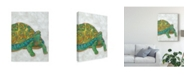"Trademark Global Chariklia Zarris Turtle Friends I Canvas Art - 20"" x 25"""