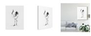 "Trademark Global Naomi Mccavitt Japanese Cranes IV Canvas Art - 37"" x 49"""