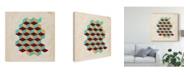 "Trademark Global Naomi Mccavitt Geometric Pattern Play II Canvas Art - 27"" x 33"""
