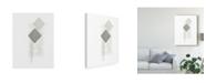 "Trademark Global June Erica Vess Block Print Composition I Canvas Art - 37"" x 49"""