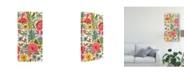 "Trademark Global Karen Fields Multi Bloom Floral I Canvas Art - 20"" x 25"""