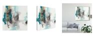 "Trademark Global June Erica Vess Cerulean Mirage II Canvas Art - 27"" x 33"""