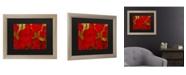 "Trademark Global Masters Fine Art Poppies Matted Framed Art - 37"" x 49"""