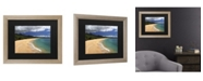 "Trademark Global Pierre Leclerc Makena Maui Matted Framed Art - 37"" x 49"""