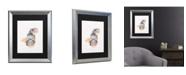 "Trademark Global Pat Saunders-White Blue Fish Matted Framed Art - 27"" x 33"""