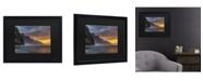 "Trademark Global Pierre Leclerc Napali Sunset Kauai Matted Framed Art - 15"" x 20"""