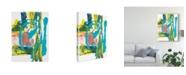 "Trademark Global Joyce Combs Happy Thoughts II Canvas Art - 20"" x 25"""