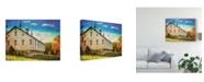 "Trademark Global Lois Bryan Centennial Barn Canvas Art - 15"" x 20"""