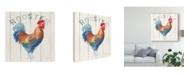 "Trademark Global Danhui Nai Rooster Panel Canvas Art - 15"" x 20"""
