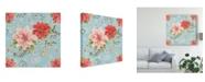 "Trademark Global Daphne Brissonnet Country Poinsettias Step 01D Canvas Art - 20"" x 25"""