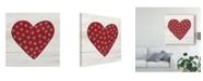 """Trademark Global Kathleen Parr Mckenna Rustic Valentine Heart II Canvas Art - 15"""" x 20"""""""