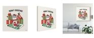 "Trademark Global Janelle Penner Santa Paws IV Canvas Art - 15"" x 20"""