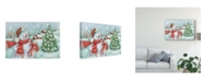 "Trademark Global Mary Urban Classic Snowmen I Canvas Art - 20"" x 25"""