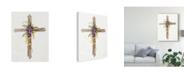 "Trademark Global Kathleen Parr Mckenna Easter Blessing Cross I Canvas Art - 15"" x 20"""