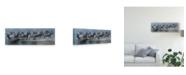 "Trademark Global Pip Mcgarry Flight of the Zebras Canvas Art - 15"" x 20"""
