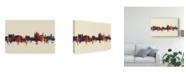 """Trademark Global Michael Tompsett Thun Switzerland Skyline III Canvas Art - 20"""" x 25"""""""